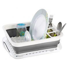 Egouttoir vaisselle rétractable avec plateau