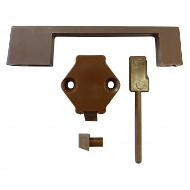 Poignée de meuble avec verrou marron DWS Outdoor